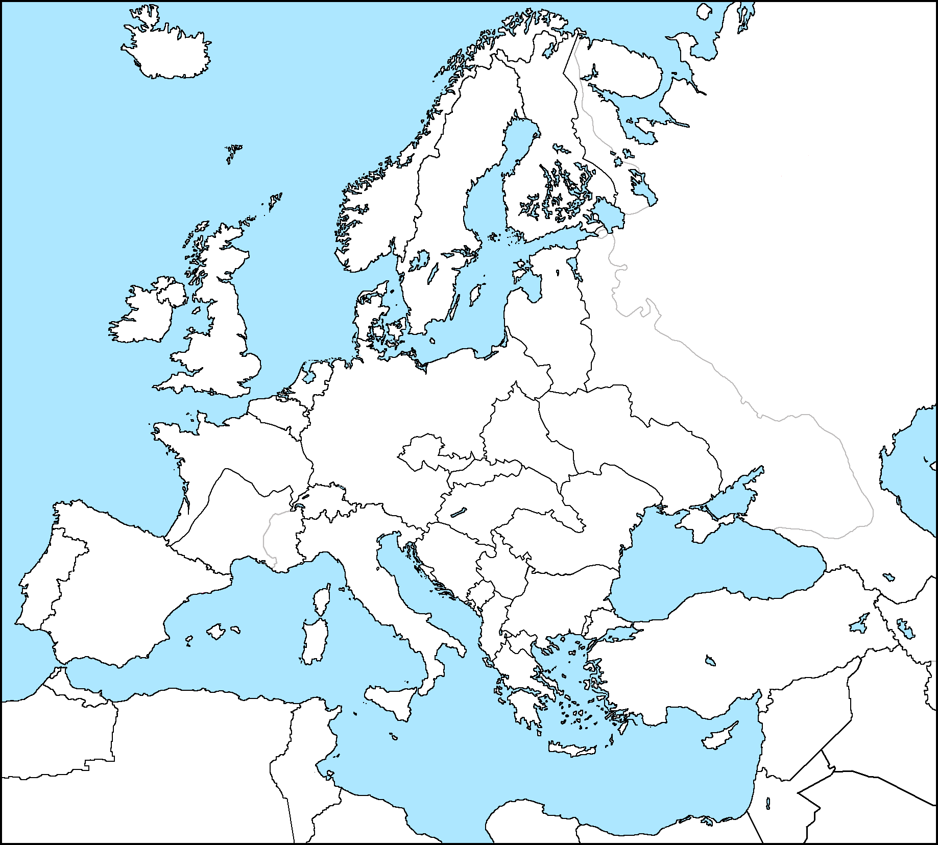 Mapping Europe By HarryM On DeviantArt - Europe political blank map