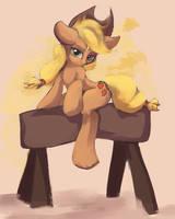 Apple horse pommel by Asssha