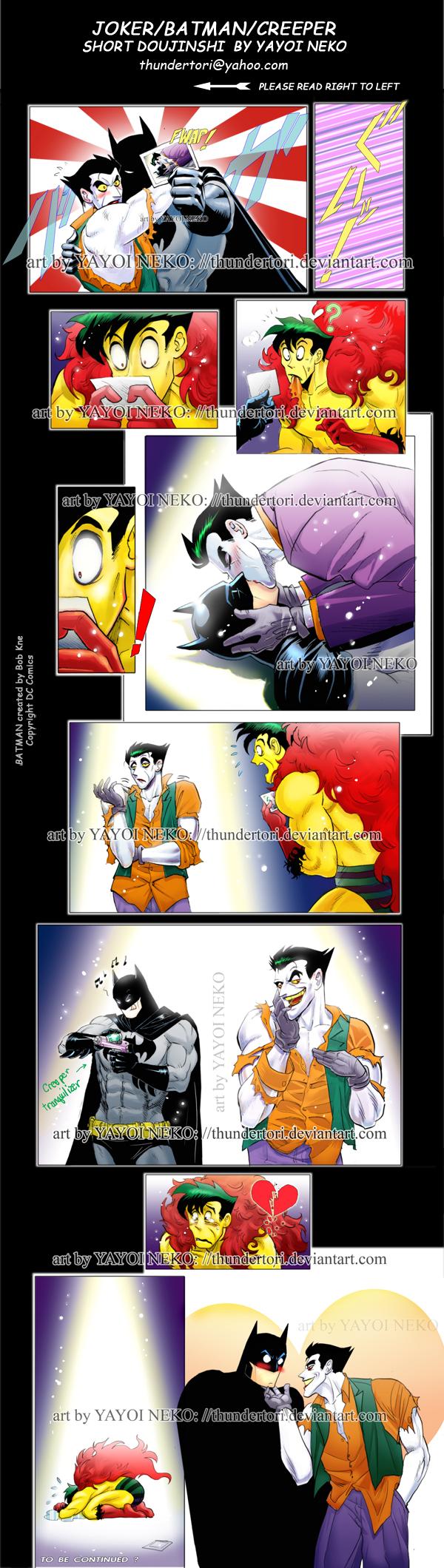 Crrper,Joker,Batman triangle by Thundertori