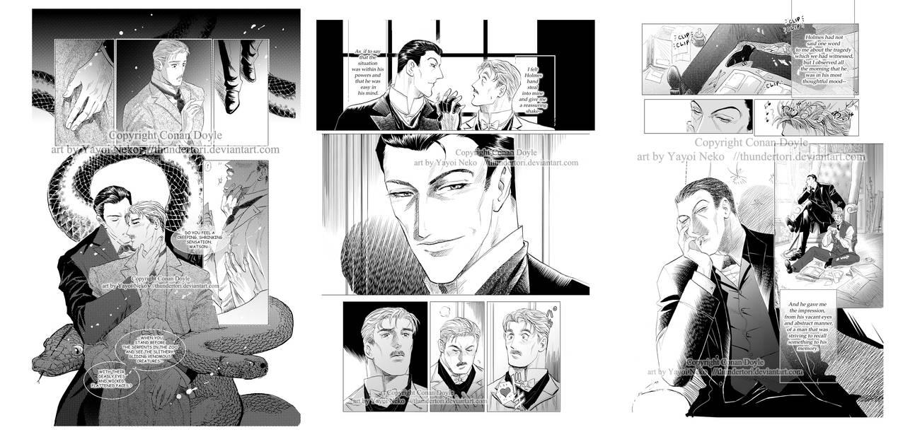 Sherlock doujin sample pages