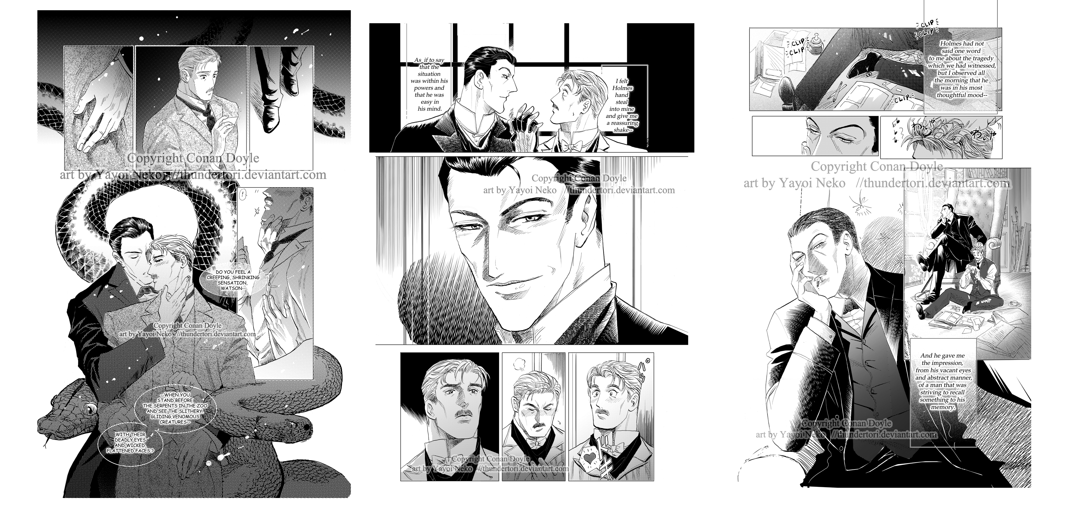 Sherlock doujin sample pages