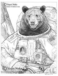 Bear Astronaut by Thundertori