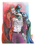 Joker X Batman Watercolor