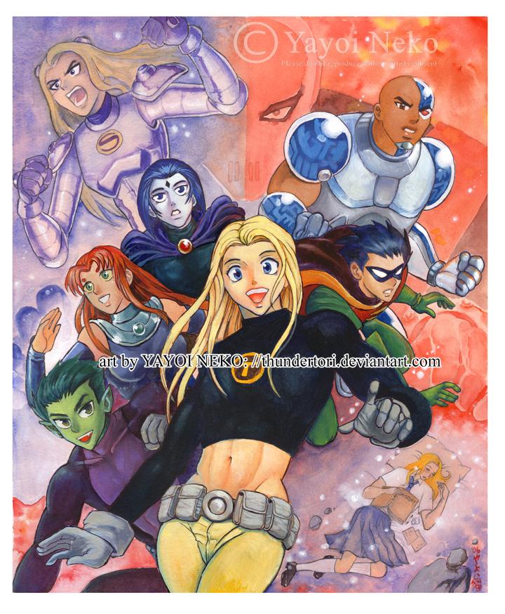 Teen Titan painting by Thundertori