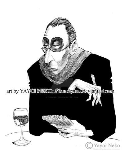 Anton Ego from 'Ratatouille' by Thundertori