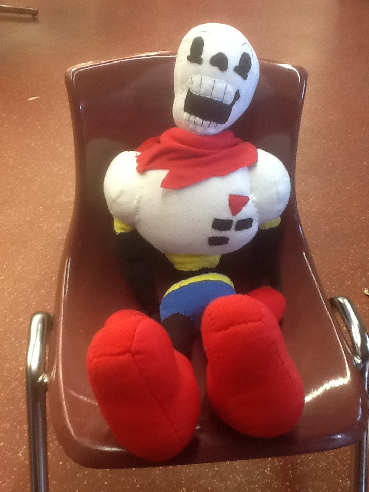 Papyrus plushie by Sabretooth-Fox