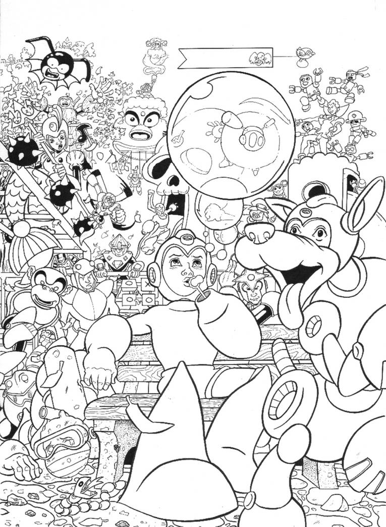 Megaman inks by Ralphious