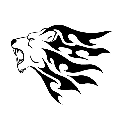 Simple Lion Head Tribal V.2 by Shadow696 on DeviantArt Simple Lion Designs