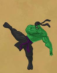 Ninja Hulk Super Rough Sketch