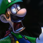 Scared Luigi Animated 2 by RatchetMario