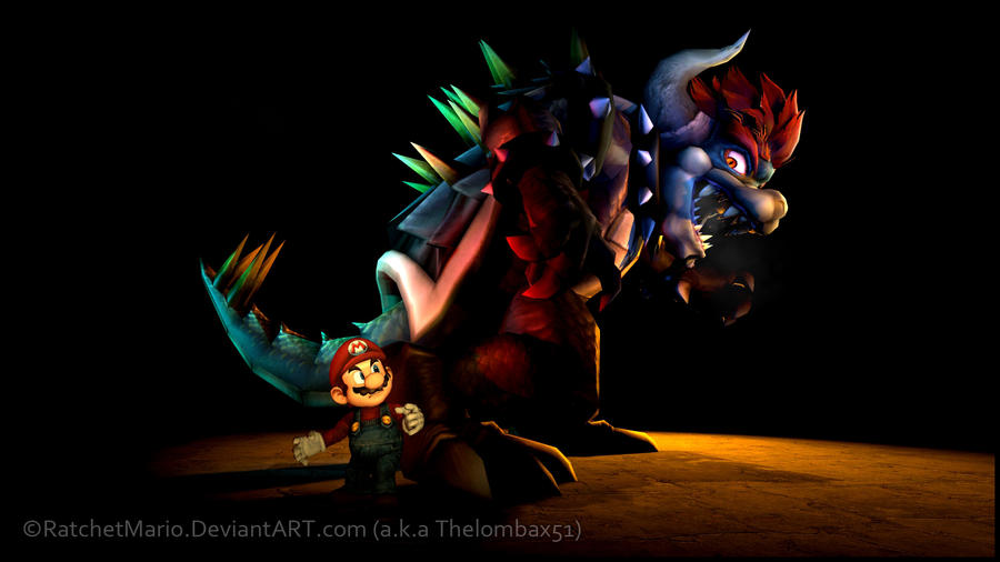GM - Mario and Giga Bowser by RatchetMario