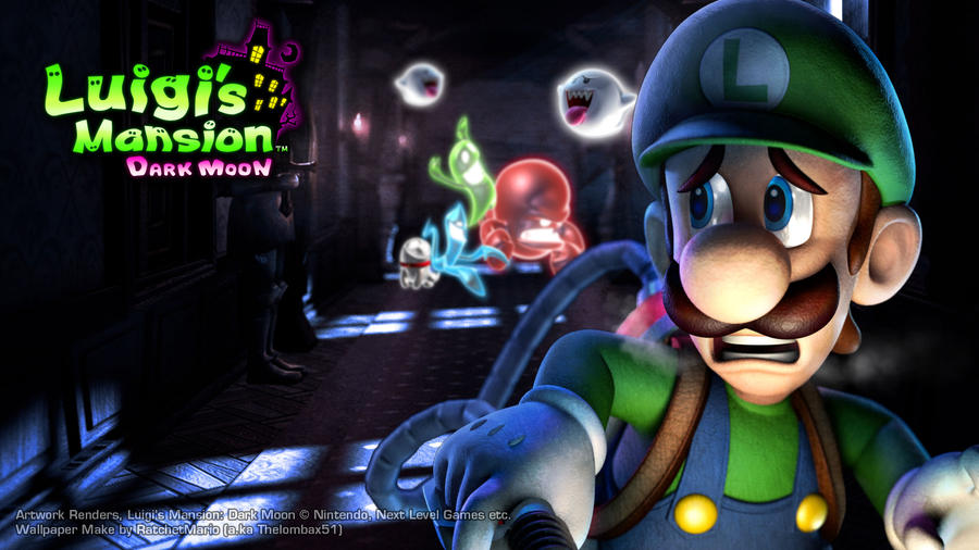 Luigi Mansion: Dark Moon Wallpaper by RatchetMario