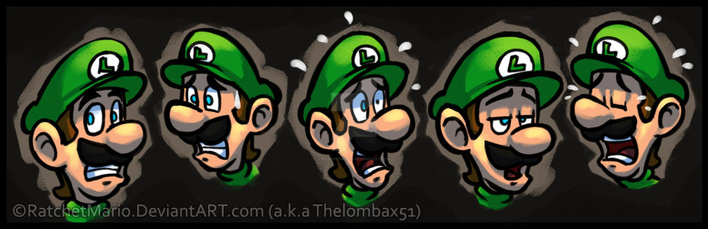 Luigi's Faces by RatchetMario