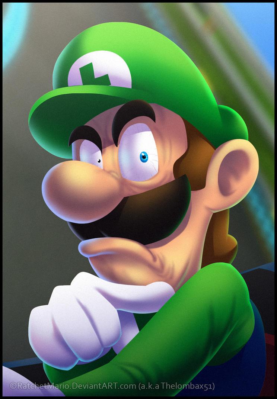 Luigi's Death Stare by RatchetMario