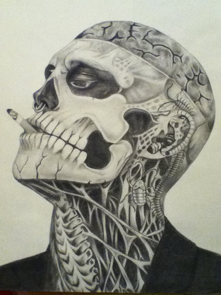 Rick Genest aka Zombie boy by famedcreation