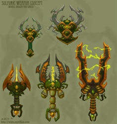 Sulfuric Weapon concept by The-SixthLeafClover