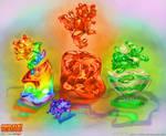 Jelly dragon jigglers