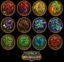 WoWhelpcraft Class buttons by The-SixthLeafClover