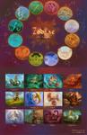 Zodiac 2012 Calendar SALE