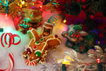 Holiday Dragons by The-SixthLeafClover