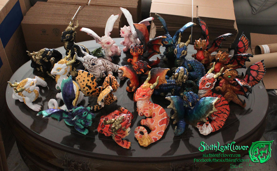 Dragons Sculptures for AC2012 by The-SixthLeafClover