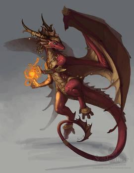 Red Dragon Girl October Winner Art
