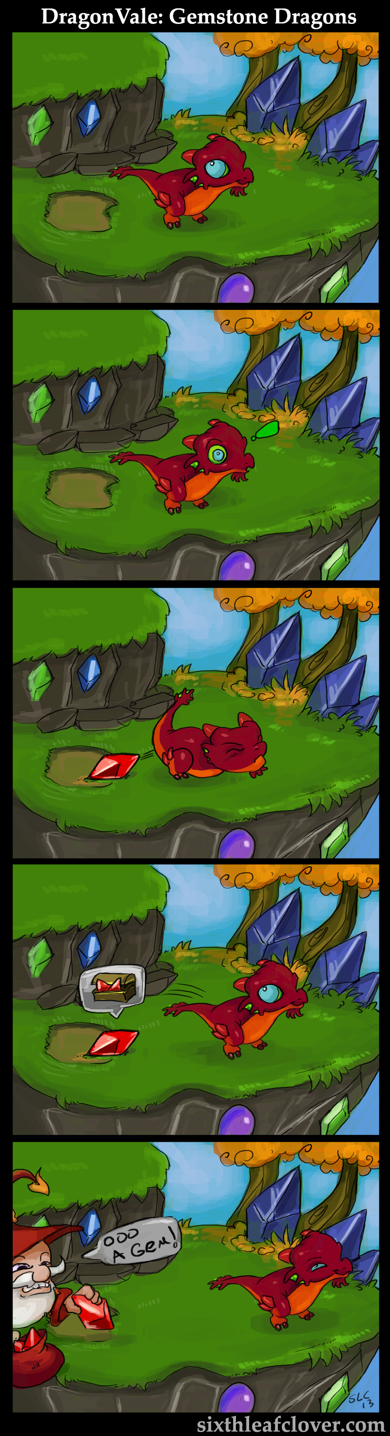 dragonvale gemstone dragons by the sixthleafclover on