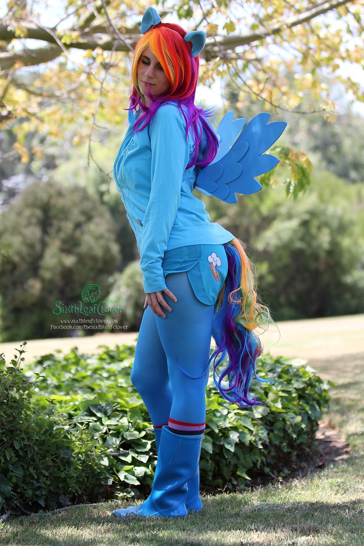 Rainbow dash cosplay hentai