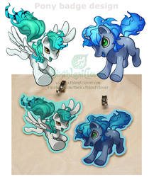 Pony style badges