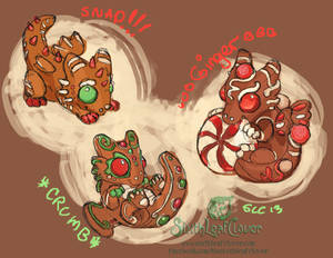 Gingerbread Dragon Hatchling Concepts