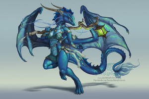 Ice Dragoness by The-SixthLeafClover
