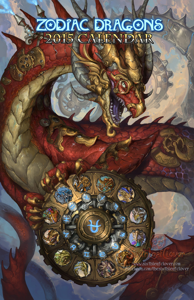 2015 Zodiac Dragons Calendar