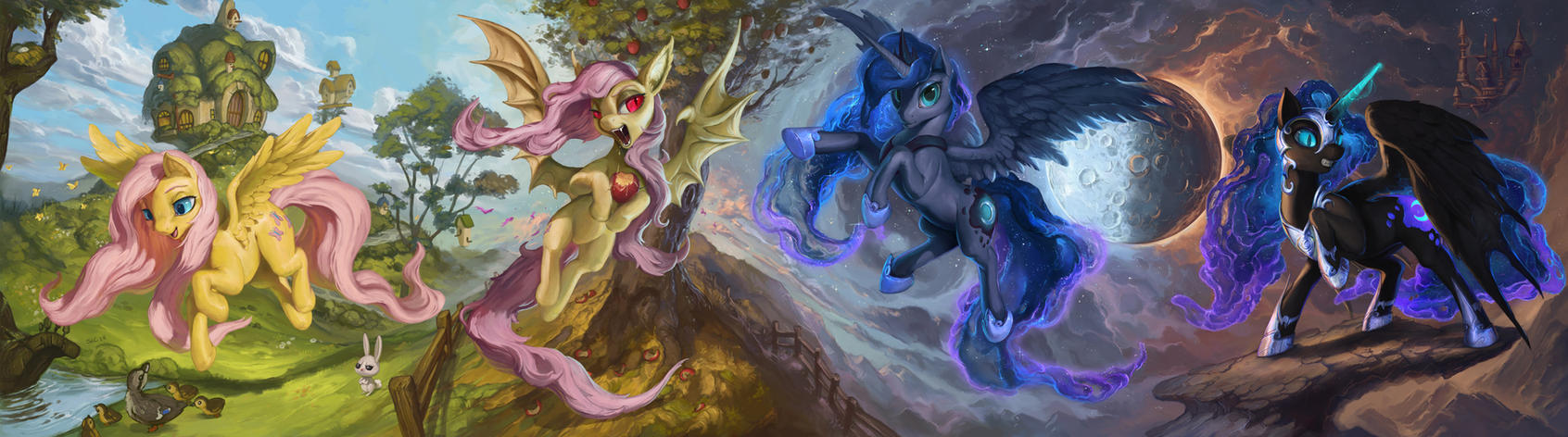 The Light and the Night by The-SixthLeafClover