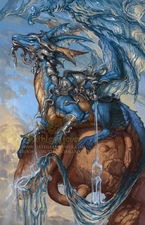 2015 Zodiac Dragons - Aquarius by The-SixthLeafClover on DeviantArt