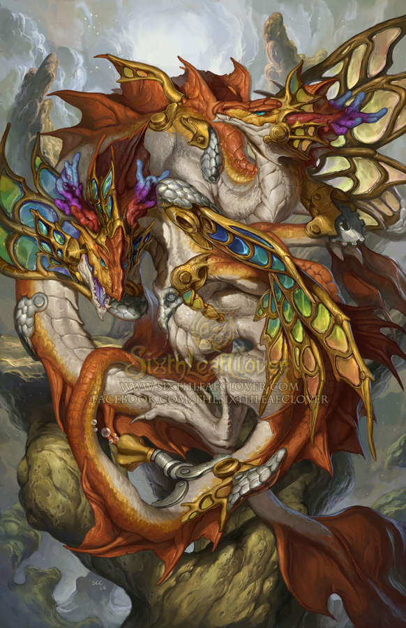 2015 Zodiac Dragons - Pisces by The-SixthLeafClover