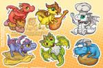 Hungry Munchers Sticker Sheet