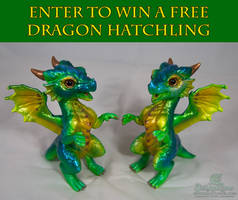 Enter to win FREE Custom painted Dragon Hatchling
