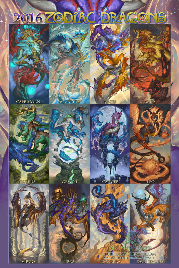 2016 Zodiac Dragons by The-SixthLeafClover on DeviantArt