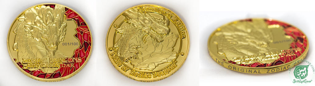 2017 Zodiac Dragons Collectors Coin by The-SixthLeafClover