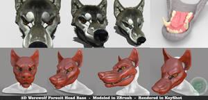 Werewolf 3D Base Head