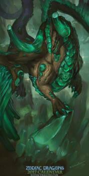 2017 Zodiac Dragons Calendar - Taurus Dragon