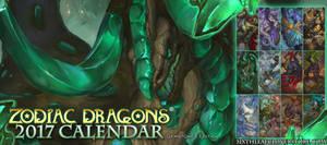 Zodiac Dragons Calendar The 2017 Gemstone Edition