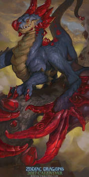 2017 Zodiac Dragons Calendar - Cancer Dragon