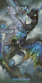 2017 Zodiac Dragons Calendar - Gemini Dragon