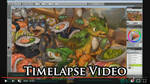 Timelapse Video of The Sushi Rollers Artwork