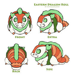 Eastern Dragon Roll Plushie by The-SixthLeafClover
