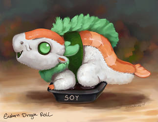 Eastern Dragon Roll Soy Sauce by The-SixthLeafClover