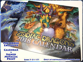 2018 Zodiac Dragons Calendar Exclusive by The-SixthLeafClover