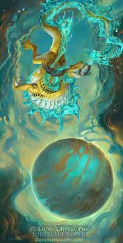 2018 The Water Weaving Zodiac Dragon Aquarius
