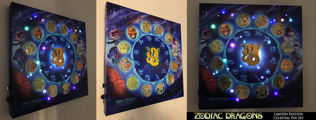 2018 Zodiac Dragons Calendar Celestial Pins Set by The-SixthLeafClover